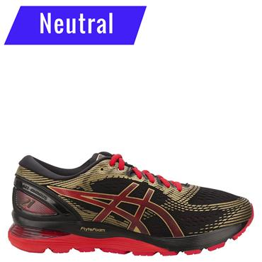 ASICS Womens Nimbus 21 Running Shoe - Red/Black