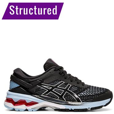 ASICS Womens Kayano 26 Running Shoe - BLACK