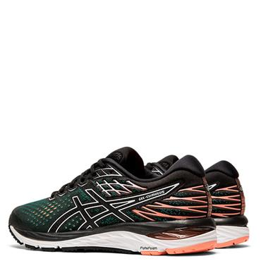 ASICS Womens Gel Cumulus 21 Running Shoe - Black/Green