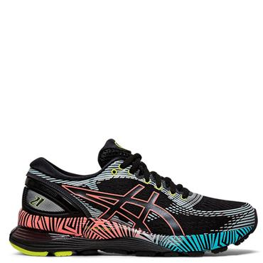 ASICS Womens Gel-Nimbus 21 LS Running Shoes - BLACK
