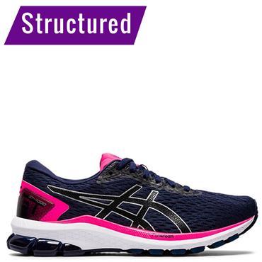 ASICS Womens GT 1000 9 Running Shoes - Navy