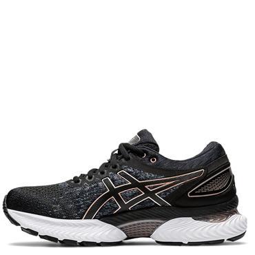 ASICS Womens Gel Nimbus 22 Knit Running Shoes - BLACK