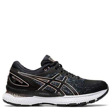 ASICS Womens Gel Nimbus 22 Knit Running Shoes - BLACK