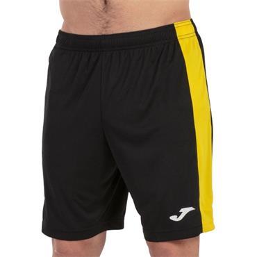 Joma Academy Maxi Short - Black/Yellow