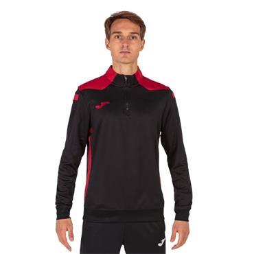 Joma Championship VI Half Zip Top - Black/Red