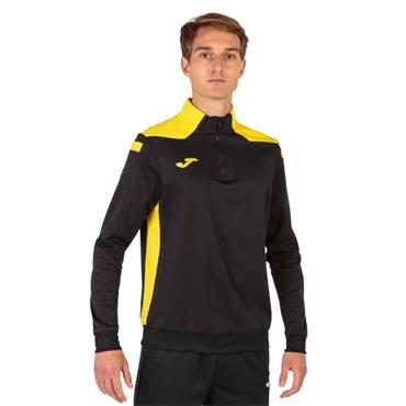 Joma Championship VI Half Zip Top - Black/Yellow