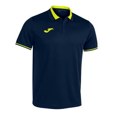 Joma Championship VI Polo Shirt - Navy/Flour Yellow