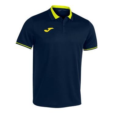 Joma Championship VI Polo Shirt - Navy/Yellow