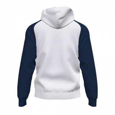 Joma Academy IV Full Zip Hoodie - White/Navy