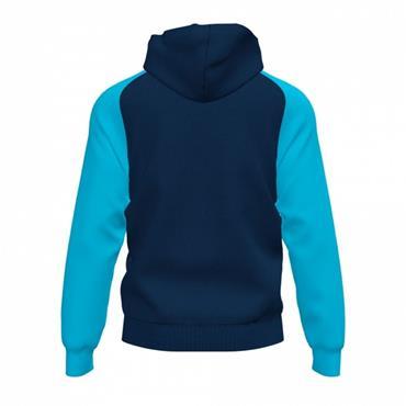 Joma Academy IV Full Zip Hoodie - Navy/Turquoise
