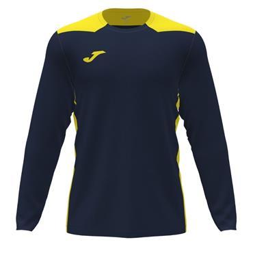 Joma Championship VI Long Sleeve Jersey - Navy/Yellow