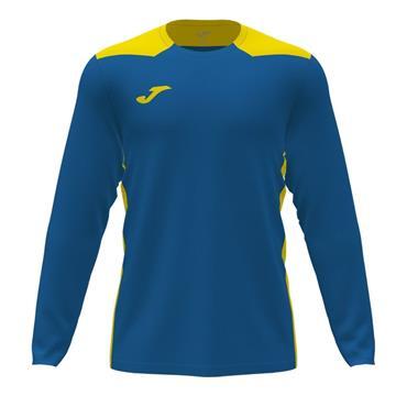 Joma Championship VI Long Sleeve Jersey - Royal/Yellow