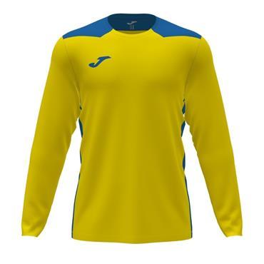Joma Championship VI Long Sleeve Jersey - Yellow/Royal Blue