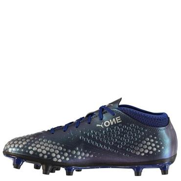 PUMA MENS ONE 4 FG FOOTBALL BOOT - BLUE