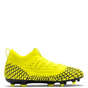 PUMA Kids Future 4.3 Netfit FG/AG Football Boots - Yellow