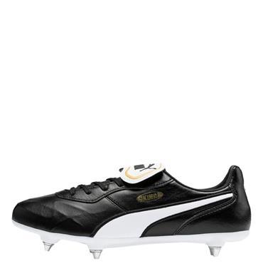 Puma Mens King Top SG Football Boots - Black/White