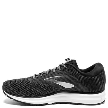 BROOKS MENS REVEL 2 RUNNING SHOES - BLACK/WHITE