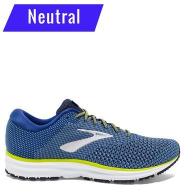 Brooks Mens Revel 2 Running Shoes - Blue/White