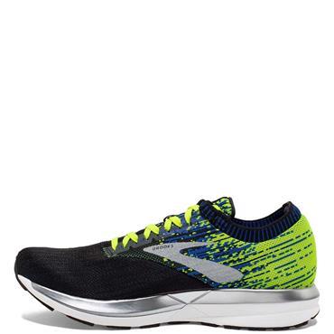 Brooks Mens Ricochet Running Shoes - Black/Blue