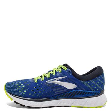 BROOKS MENS TRANSCEND 6 RUNNING SHOES - BLUE/YELLOW
