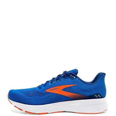 Brooks Mens Launch 8 Running Shoe - BLUE/ORANGE