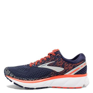 BROOKS WOMENS GHOST 11 - NAVY/CORAL