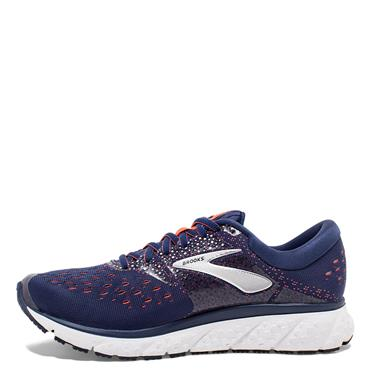 BROOKS WOMENS GLYCERIN 16 - NAVY/ORANGE