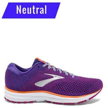 BROOKS WOMENS REVEL 2 - PURPLE/ORANGE