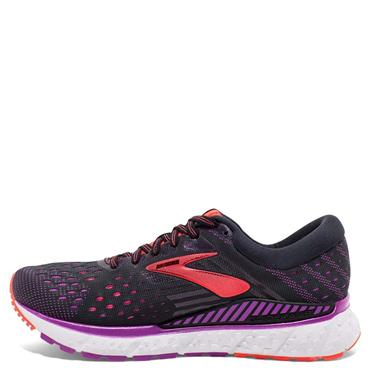 Brooks Womens Transcend 6 Running Shoe - Black/Purple