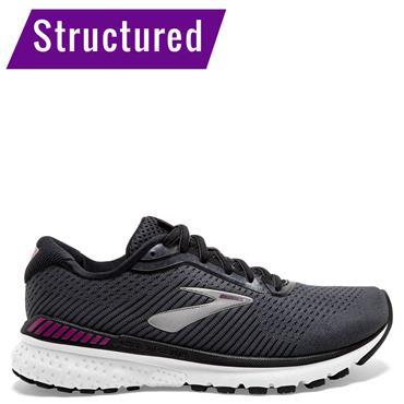 Brooks Womens Adrenaline GTS 20 Running Shoes - BLACK