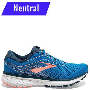 Brooks Womens Ghost 12 Running Shoe - Blue