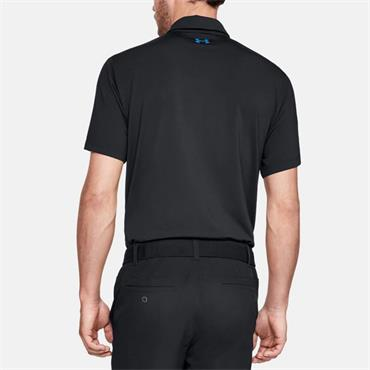UNDER ARMOUR MENS UA PLAYOFF POLO - BLUE/BLACK