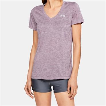UNDER ARMOUR WOMENS TECH TWIST TSHIRT - PURPLE