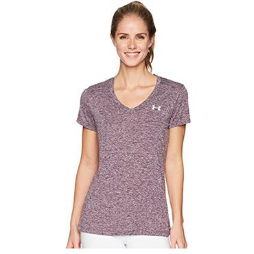 UNDER ARMOUR WOMENS TWIST TECH TSHIRT - PURPLE