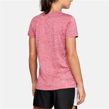 Under Armour Womens Tech Twist T-Shirt - Pink