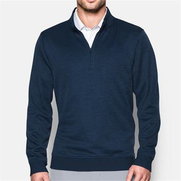 UNDER ARMOUR MENS STORM HALF ZIP SWEATER - NAVY