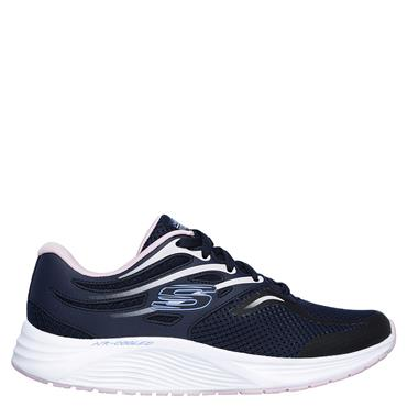 SKECHERS WOMENS SKYLINE AGLOW TRAINER - NAVY/PINK