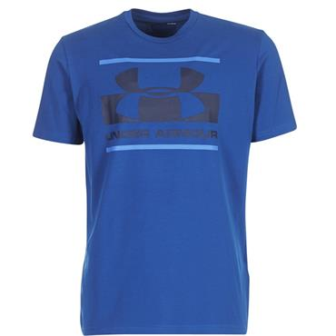 MENS BLOCKED LOGO T SHIRT - BLUE