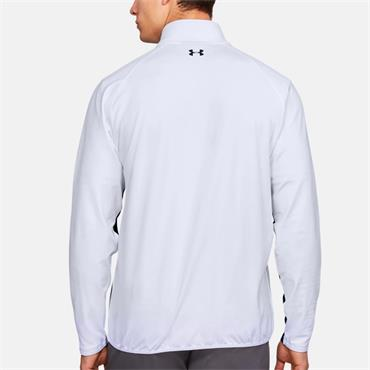 UNDER ARMOUR MENS MIDLAYER TOP - WHITE