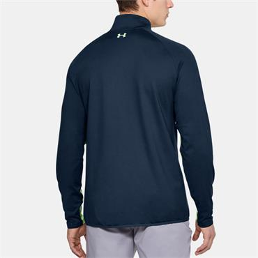 UNDER ARMOUR MENS EU MIDLAYER HZ TOP - NAVY