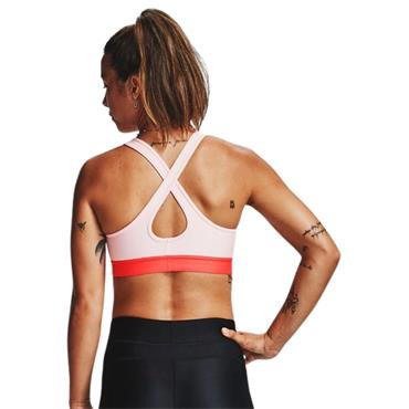 Under Armour Womens Mid Crossback Sports Bra - Pink