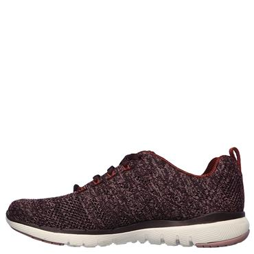 Skechers Womens Flex Appeal 3.0 Trainers - Burgandy