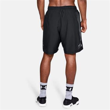 Under Armour Mens Woven Graphic Shorts - BLACK