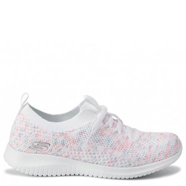 Skechers Ultra Flex Happy Days - White/Pink