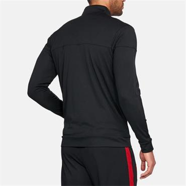 Under Armour Mens Sportstyle Pique Track Jacket - BLACK