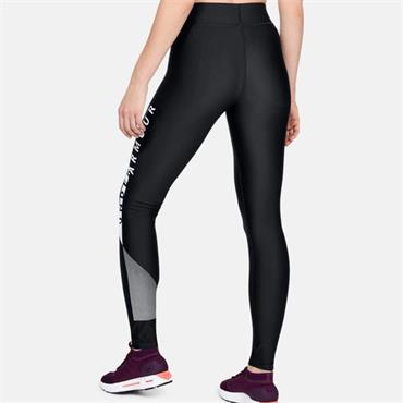 UNDER ARMOUR WOMENS HG GRAPHIC LEGGINGS - BLACK