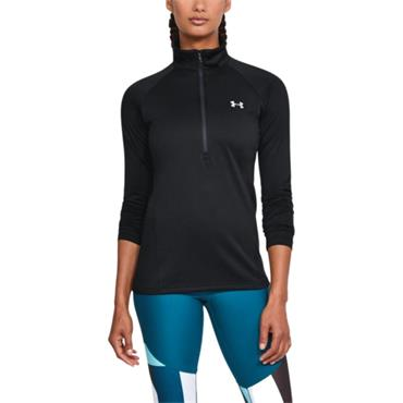 Under Armour Womens Tech Solid HZ - BLACK