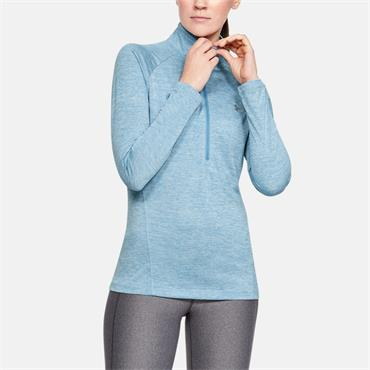 Under Armour Womens Tech Twist Half Zip - Blue