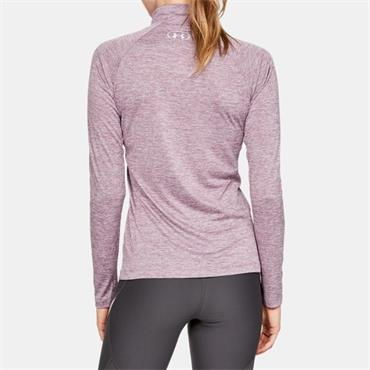 UNDER ARMOUR WOMENS TECH TWIST HZ TOP - PURPLE
