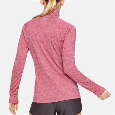 Under Armour Womens Tech Twist Half Zip Top - Pink